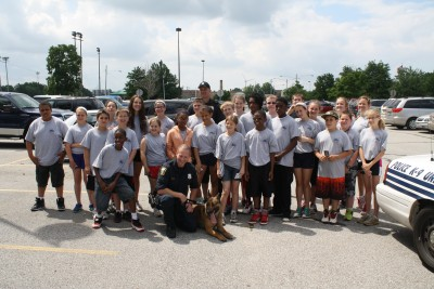 Jr Police with K-9 Group