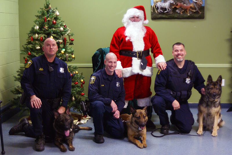 Euclid Officers with their K9's